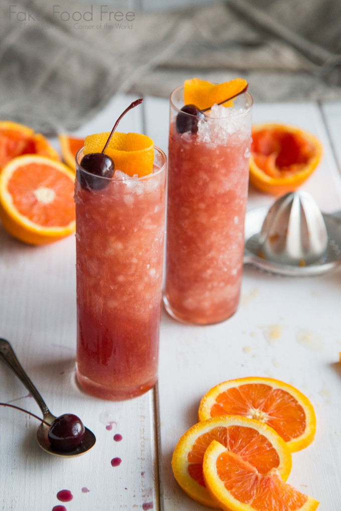 Cara Cara Orange Old Fashioned Cocktail Fake Food Free